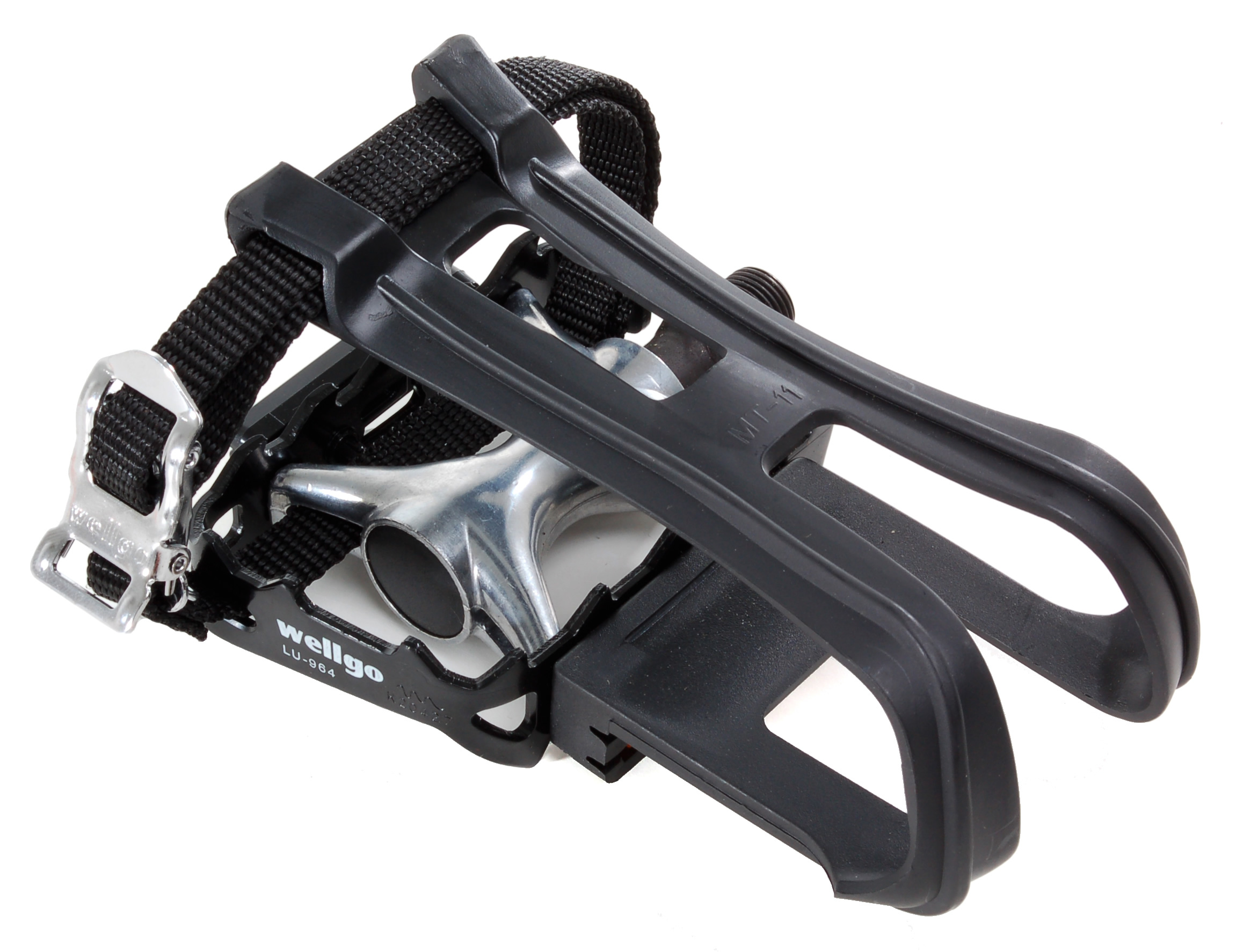 "Wellgo LU-964 Platform Pedal with Toe Clip and Strap Black 9/16"" at Sears.com"